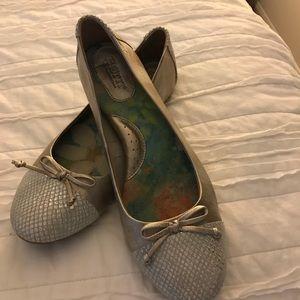 Born Silver cap toe silver flats